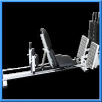 Legpress a hackendřep na lineárních ložiskách